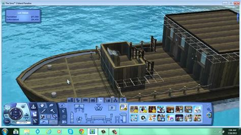 sims 3 island paradise boat house the sims 3 island paradise houseboat youtube