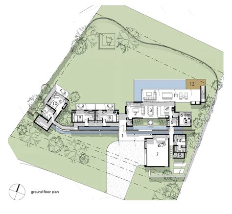 Architects House Plans Gallery Of Spine Wall House Drew Architects 16