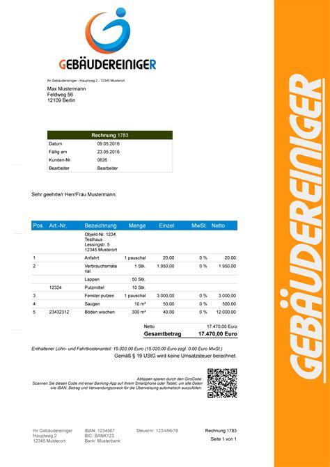 Rechnung Kleinunternehmer Ebay Rechnungsprogramm F 252 R Geb 228 Udereiniger Fensterputzer Angebote Rechnung Software Ebay