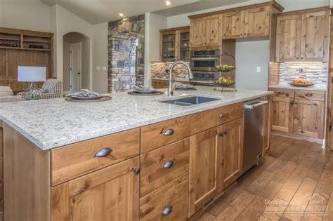 cabinets knotty alder kitchen alder pinterest high end finishes including knotty alder cabinets granite