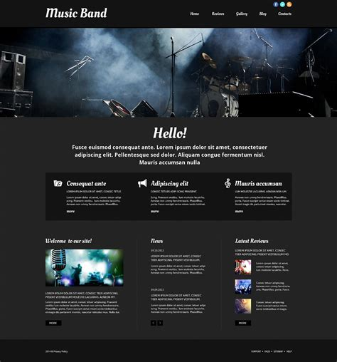 Template 52511 Ensegna Themes Metal Band Website Template