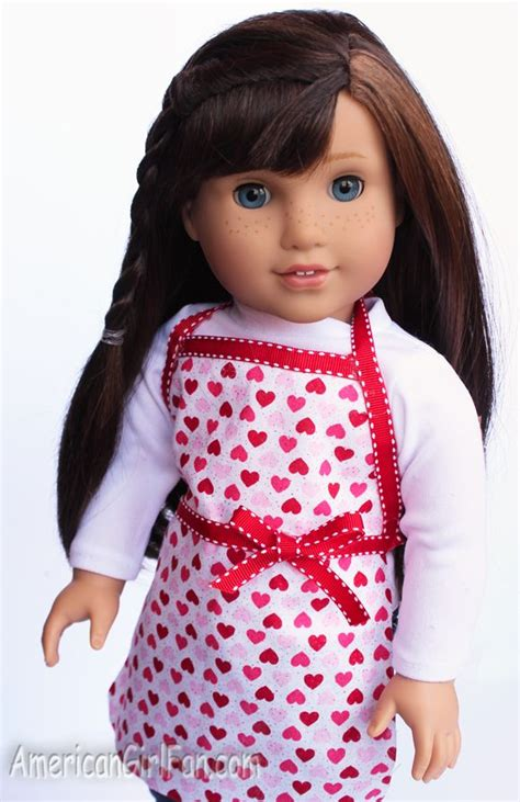apron pattern american girl doll 67 best american girl doll aprons images on pinterest