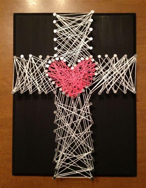 String Cross - string and nail cross faith