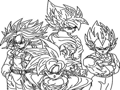 dragon ball af coloring pages immagini da colorare di