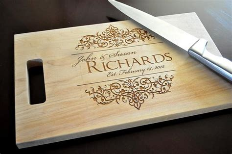 personalized cutting board laser engraved  wood