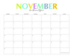 Calendar 2015 November Printable The Colorful 2015 Monthly Calendars By Shiningmom Are