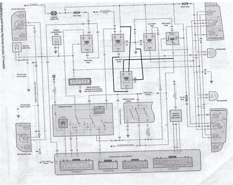 vs commodore light wiring diagram php vs wiring