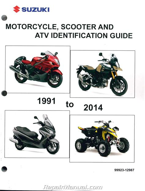 suzuki motorcycle scooter atv identification guide