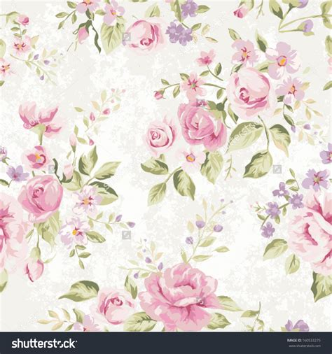 pattern flower english stock vector seamless classic wallpaper vintage flower