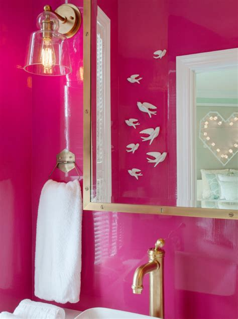 hot pink bathroom hot pink bathrooms contemporary bathroom mas design