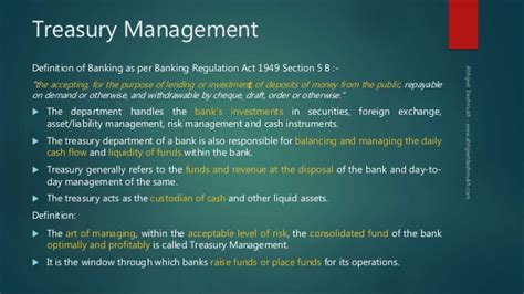 treasury management a perspective ssld