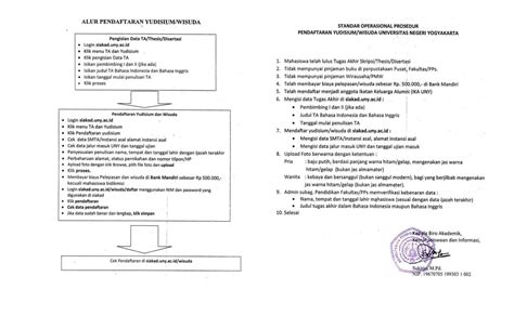 syarat pendaftaran yudisium dan wisuda uny community