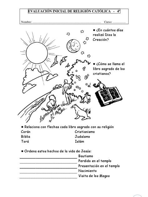 religin catlica 2 primaria 8426398650 evaluaci 243 n inicial de religi 243 n cat 243 lica para 4 186 de ed