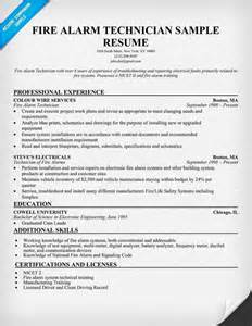 fire alarm technician resume sample http