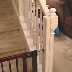 Baby Gate For Bottom Of Stairs With Banister Baby Gates Stairs On Pinterest Baby Proofing Fireplace