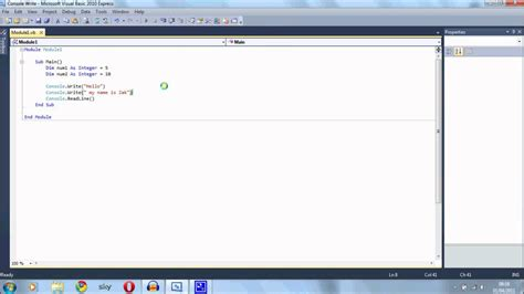 console writeline visual basic vb tutorial 6 console writeline