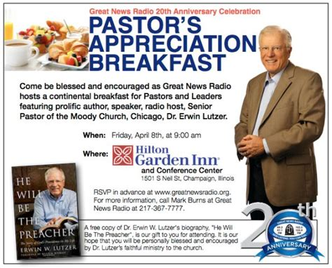 pastor your calling books pastor leaders continental breakfast with dr lutzer