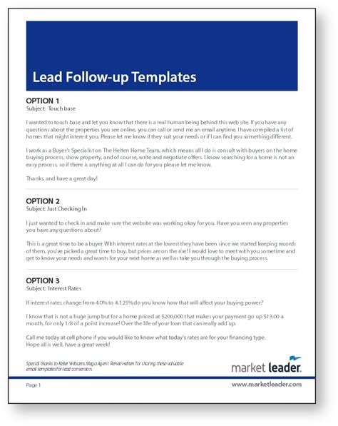 real estate lead follow up templates coaching