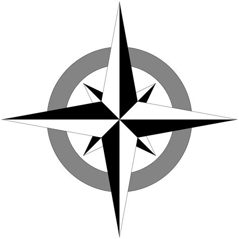printable north star clipart compass rose