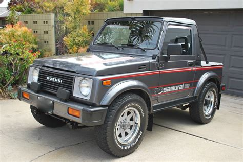 suzuki samurai trail tested time machine 1987 suzuki samurai jx se