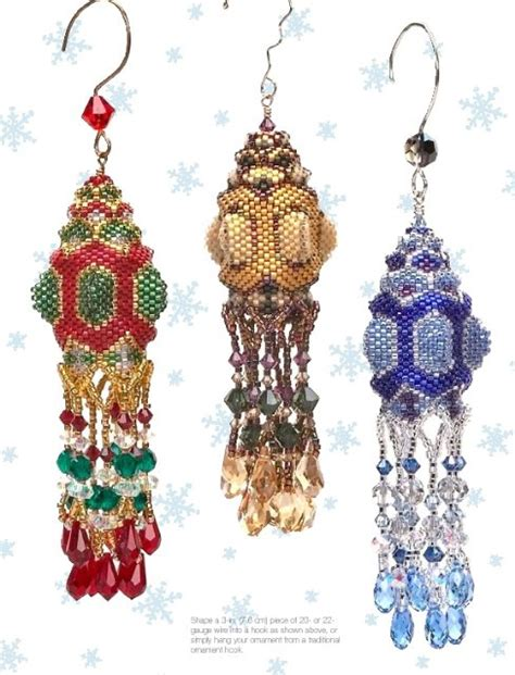 how to knit christmas ornaments crafts with beads beaded