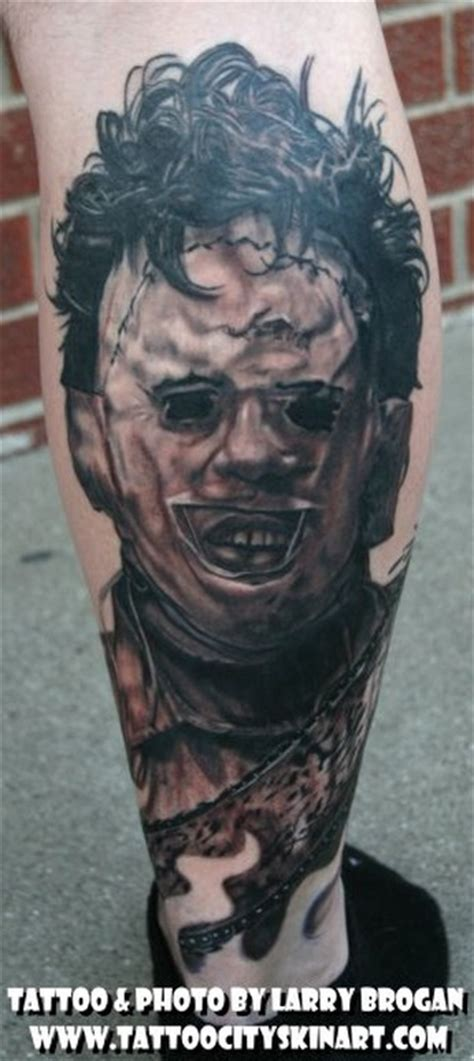 leatherface tattoo paradise gathering tattoos larry brogan