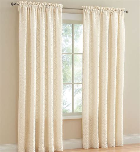 cream colored curtains rod pocket curtains carrie rod pocket panels are a room