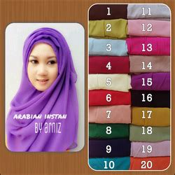 Jilbab Instan Hoodie Arabian arabian instan by arniz butik jilbab terbaru