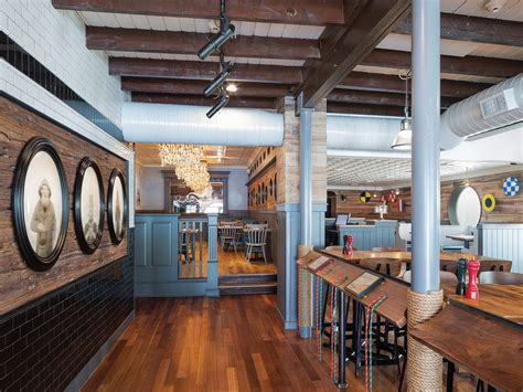 newspaper themed restaurant otto architects designs nautical themed dogfish head
