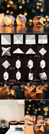 Paper Cube String Lights Don - diy home decor boards board by diy crafts diy crafts