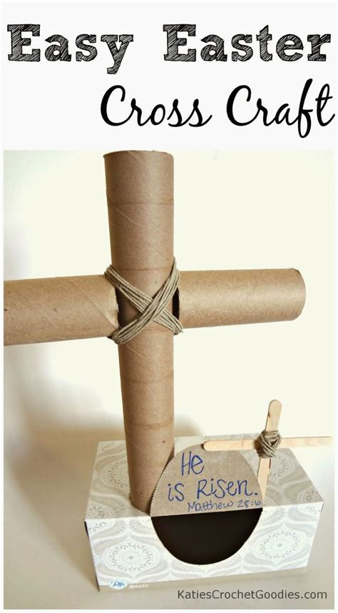 Crafts With Paper Towel - paper towel cross craft for easter bible crafts