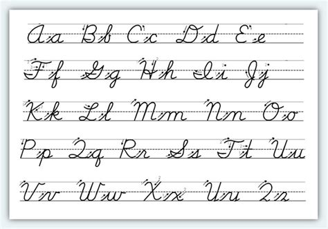printable handwriting worksheets a z 5 best images of printable cursive handwriting practice