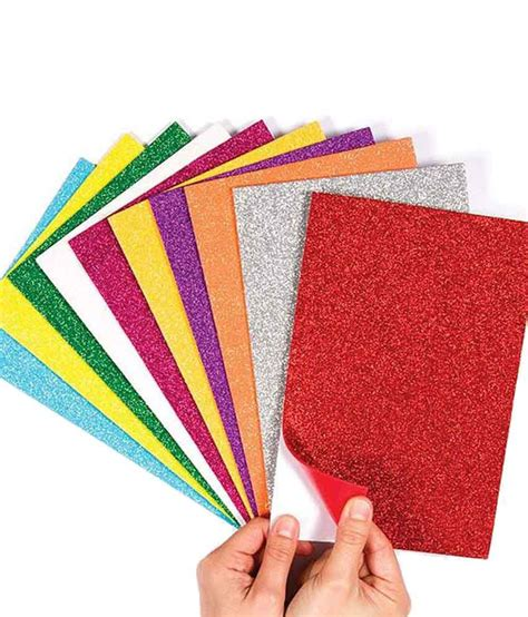 snb handmade materials of self adhesive glitter foam