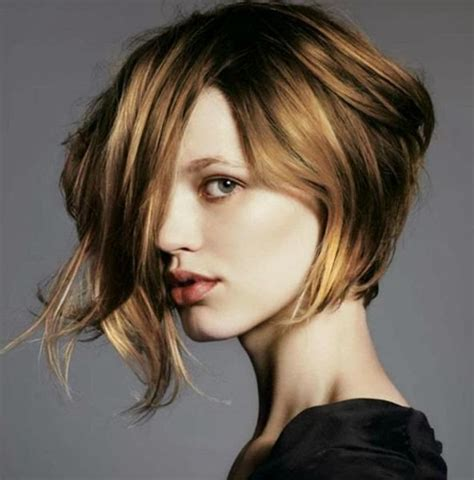 asymmetrical bob hairstyles for round faces short haircuts for round faces 2018