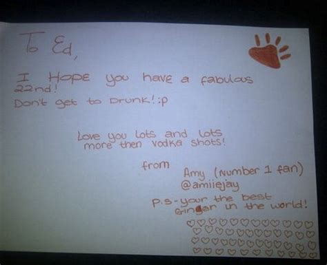 Ed Sheeran Birthday Card Amiiejay Ed Sheeran S 22nd Birthday Card Capital