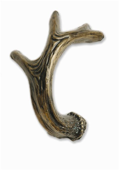 Deer Antler Knobs by Deer Antler Drawer Pull Right Facing