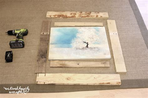 How To Make A Picture Frame Out Of Paper - we lived happily after diy pallet frame