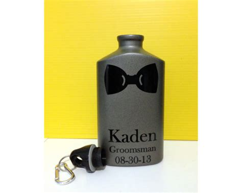 ring bearer gift bridal personalized gift canteen
