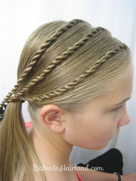 easy triple braided hairstyle babes in hairland triple twists and a bun back to school hair babes in