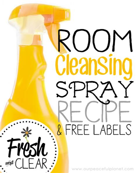 how to cleanse your room of negative energy air freshener spray recipe our peaceful planet