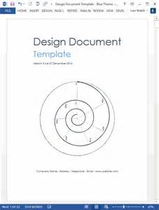 Docs Design Template by Design Document Ms Word Template