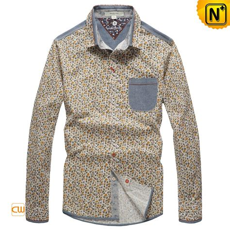 Printed Sleeve Shirt cotton printed sleeve shirts for cw114706