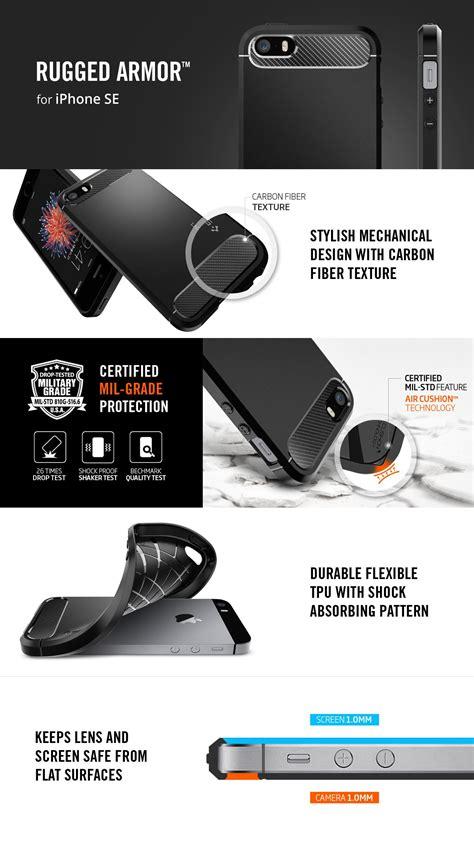 jual spigen rugged armor for iphone 5 5s se black