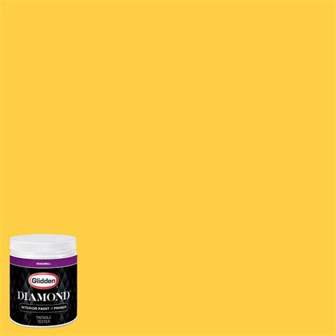 glidden 8 oz hdgy41d festival yellow eggshell interior paint with primer tester