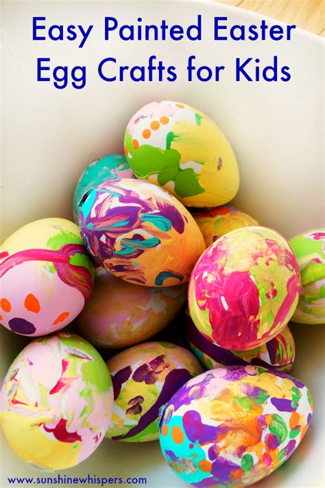 egg crafts for easy painted easter egg crafts for