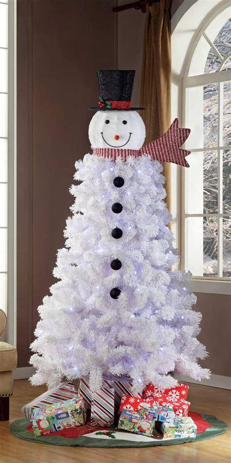 snowman christmas trees popsugar family