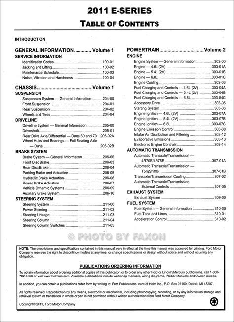 free car repair manuals 2011 ford e series interior lighting 2011 ford econoline repair shop manual original set e150 e250 e350 e450