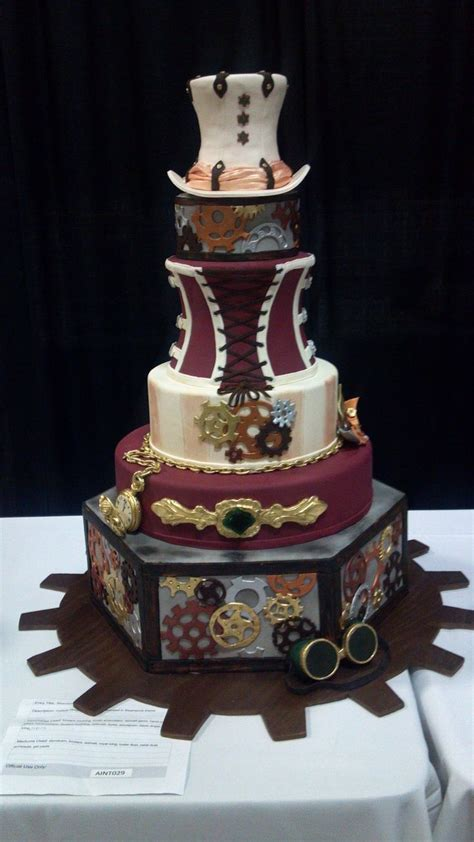 Steampunk Wedding Cake (Austin, TX)   Steampunk Wedding