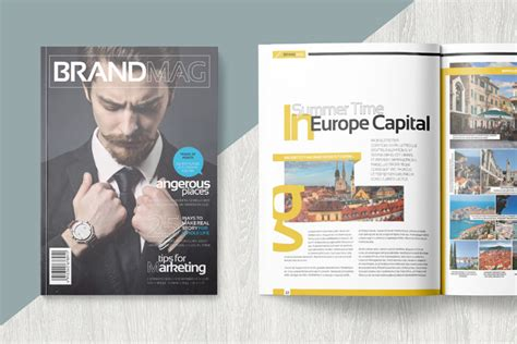 magazine template 20 magazine templates with creative print layout designs