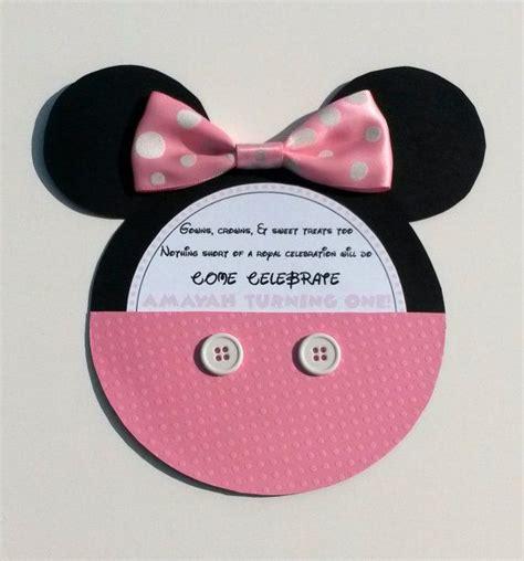 Minnie Mouse Handmade Invitations - handmade minnie mouse mickey mouse invitations on